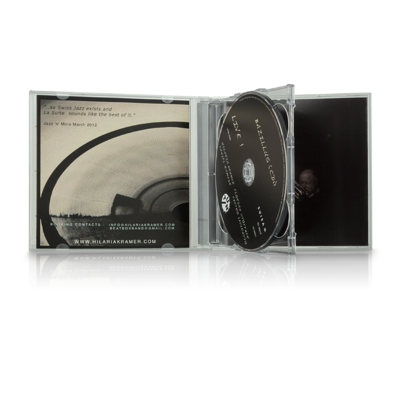 Double-CD box, transparent tray