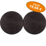 Set of 2 Basstrap Lids black