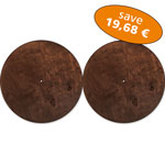 Set of 2 Basstrap Lids brown