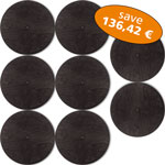 Set of 8 Basstrap Lids black