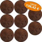 Set of 8 Basstrap Lids brown
