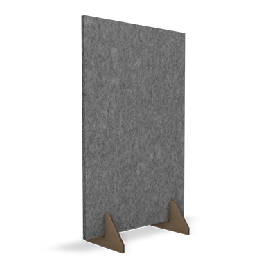 HOFA Acoustic Divider gray with 2 Cardboard Stands